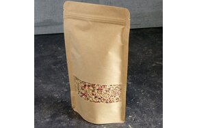 DOY-PACK KRAFT BAGS WITH WINDOW